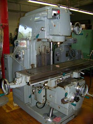 Kearney & trecker model 307 s-12 vertical milling mach