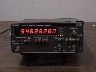 Philips #6674 universal frequency counter