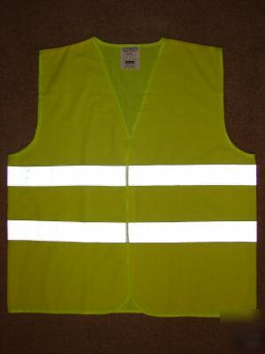 Safety vest highly reflective stripe tape solid fabric