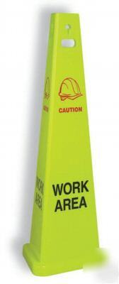 Trivu 9144 work area 3 sided safety sign .105380