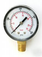 50MM pressure gauge base entry 0-400 psi air and oil