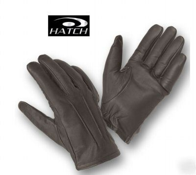 Hatch TLD40 leather dress lined search gloves medium