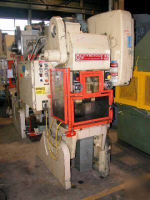22 ton bliss C22 flywheel type gap frame press