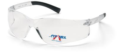 Bifocal 2.5 pyramex ztek clear reading safety glasses