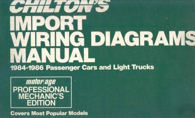 Chiltons import wiring diagrams for cars & light trucks