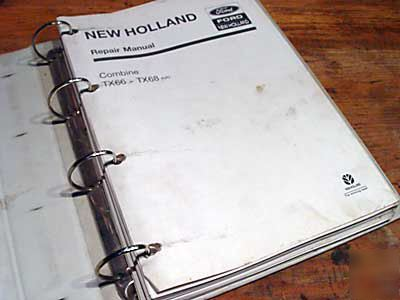 New holland TX66 TX68 combine condensed service manual