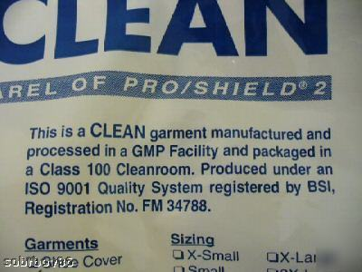 New lot 8 pro/clean cleanroom hood pro/shield 2 apparel