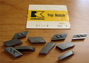 10PC kennametal npr 331N K68 top notch profiling insert
