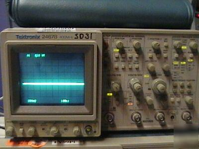 Tektronix 2467B oscilloscope, analog. 400MHZ 4 channels