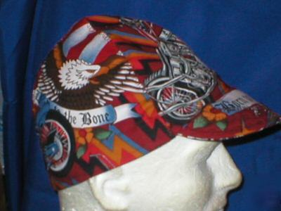 Welding biker hat hats cap caps 4TH of july chopper-red